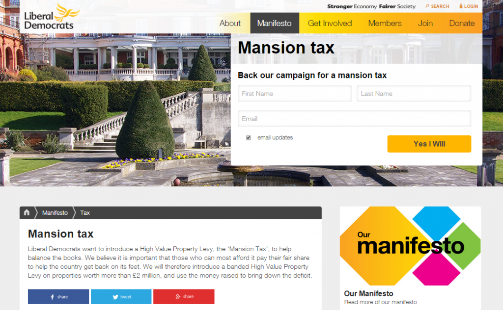 Lib Dems back Mansion Tax