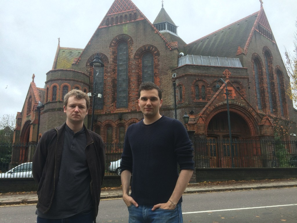 Oliver Cooper and Tom Currie at AIR Studios