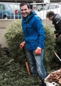Oliver Cooper gardening at the Royal Free cropped