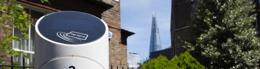 Electric vehicle charging point to reduce air pollution